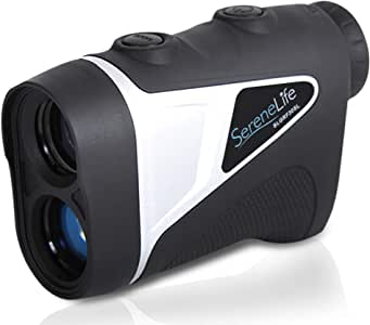 SereneLife Advanced Golf Laser Rangefinder - 546.2 Yard Digital Accuracy Distance Meter with Pinsensor Technology, 6X Magnification and 2 Modes for Hunting, Shooting, Archery and More - SLGRF20SL