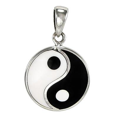 Amazon small sterling silver taoist yin yang pendant symbol small sterling silver taoist yin yang pendant symbol of balance aloadofball Images