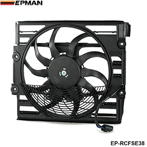 (EPMAN Replacement Cooling Radiator Fan Assembly Fit For BMW E38 1996-1998 7-Series 740 750)