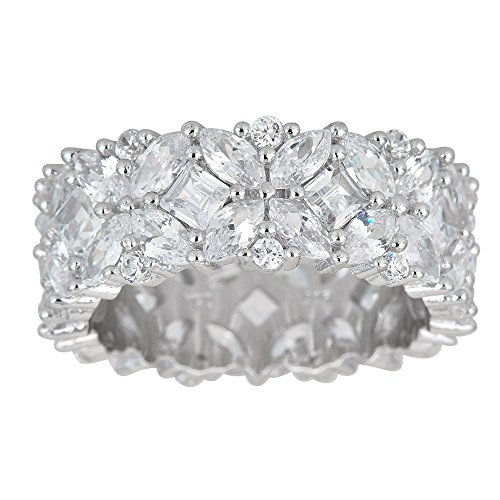 Multi Stone Band (Sterling Silver Cubic Zirconia Multi Stone Eternity Band Ring)