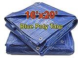 Tarpsupply 16' x 20' Multi-purpose Blue Poly Tarp