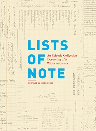 Lists of Note: An Eclectic Collection Deserving of a Wider Audience (List Of Science Projects For Class 6)