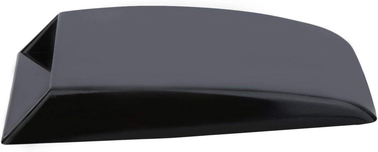 fibre de carbone FRjasnyfall Style de voiture tricolore D/écoratif universel pour circulation dair Prise dair Scoop Turbo Capot Capuchon de ventilation Capot argent//blanc//noir style de voiture