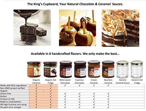 The King's Cupboard Original Organic Sampler Gift Set of Hot Fudge & Caramel Sauce by The King's Cupboard (Image #1)'