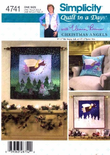 ng Pattern Guardian Christmas Angel Quilt in a Day Wallhanging Pillow ()