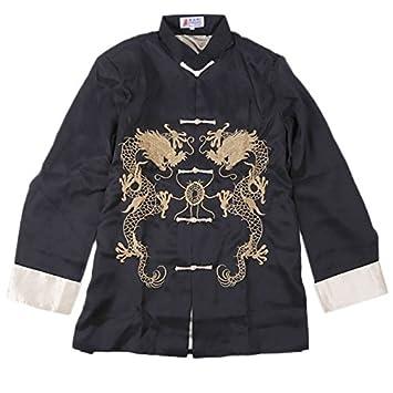 VESTE CHINOISE Modèle IMPÉRIAL Broderie Motif Dragons Amazon - Broderie veste de cuisine