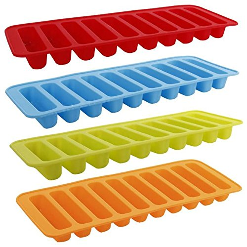 Koolsants Cylinder Ice Cube Tray Silicone Mold Chocolate Cake Jelly Pudding Handmade Soap Muffin Pudding Mould Handmade