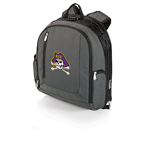 NCAA East Carolina Pirates PT-Navigator Cooler Backpack, Gray by PICNIC TIME