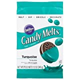Wilton 1911-9424 Turquoise Candy Melts Candy