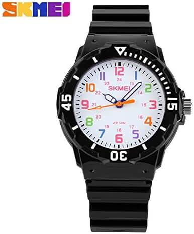 Children Waterproof Jelly Sports Quartz Watch Black