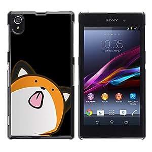 Be Good Phone Accessory // Dura Cáscara cubierta Protectora Caso Carcasa Funda de Protección para Sony Xperia Z1 L39 C6902 C6903 C6906 C6916 C6943 // Cute Minimalist Fox