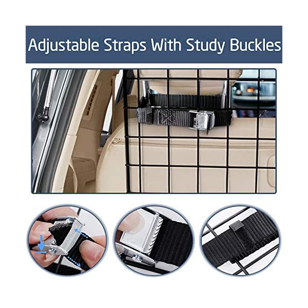 Dog-Car-Barrier-for-SUVs-Van-Vehicles-Adjustable-Large-Pet-SUV-Barriers-Universal-Fit-Heavy-Duty-Wire-Mesh-Dog-Car-Guard-SUV-Pet-Car-Gate-for-Vehicles-Safety-Car-Divider-for-Dogs-Smooth-Design