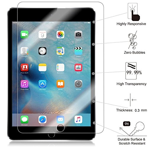 TANTEK HD Clear, Anti-Scratch, Anti-Glare, Anti-Fingerprint, Tempered Glass Screen Protector for Apple iPad Pro (12.9) - 3 Piece