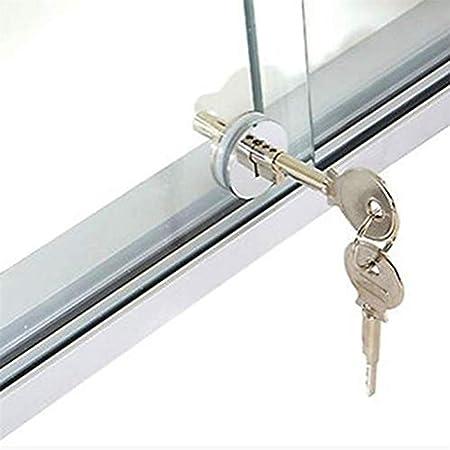 CAVIVI - Cerradura de Puerta corredera de Cristal para gabinete, cajón, Vitrina, Ventana: Amazon.es: Hogar