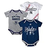 New York Yankees Infant Three Strikes Bodyuit Set of 3 (3-6M)