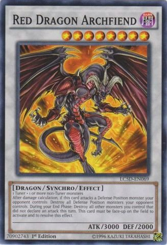 Yu-Gi-Oh! - Red Dragon Archfiend (LC5D-EN069) - Legendary Collection 5D's Mega Pack - 1st Edition - Common