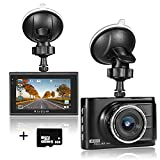 Aisdom 1080P FHD Dash Cam with 8GB Memory Card, Dash Camera For Cars Car DVR, 3.0