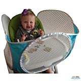 The Original Tray Buddi - Aqua - It's a Playpen for High Chairs, Booster Seats, Strollers and Wheelchairs - It Keeps Baby Food, Sippy Cups and Toys on the Tray and off the Floor