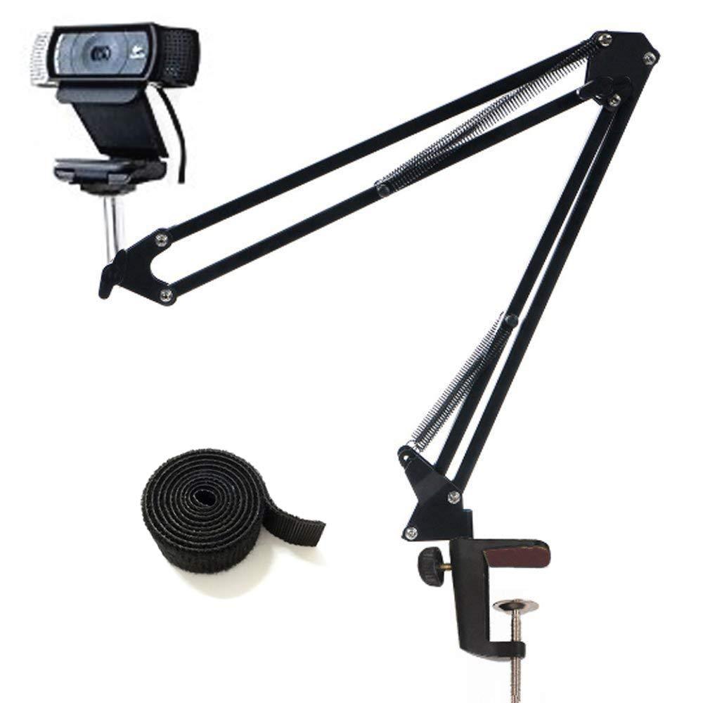 Tencro Regolabile per webcam Supporto braccio braccio a forbice Supporto per scrivania Supporto morsetto per webcam Logitech C922 C930e C930 C920 C615 e altri dispositivi con filettatura 1//4