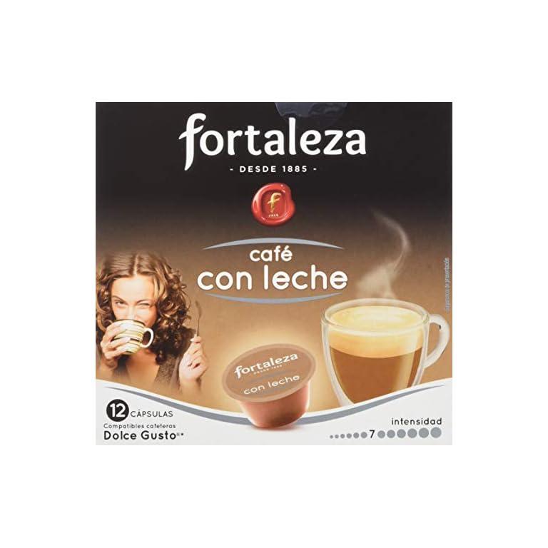 Café FORTALEZA – Cápsulas de Café Descafeinado Forte Compatibles con Dolce Gusto – Pack 4 x 12 – Total 48 cápsulas