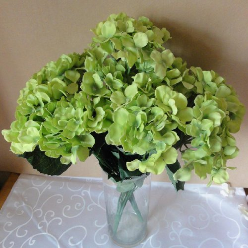 Lily-Garden-225-Silk-Hydrangea-7-Stems-Bouquet-Flower-1-Green