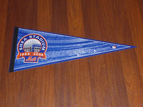 1964-2008 NY METS SHEA STADIUM DEDICATION PENNANT FULL SIZE MINT Mets Stadium Tickets