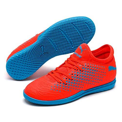 PUMA Junior Future 19.4 IT Indoor Training Lightweight Football Boots (1.5C US, Red Blast/Blue Azur) ()