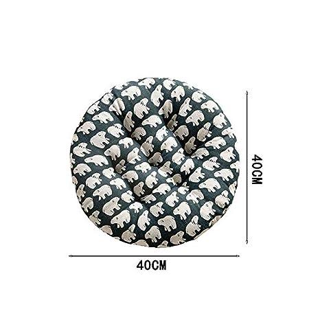 s in Lino mobili da Giardino Rotondo DaoRier Cuscino per Sedia Fashion 40 * 40cm per casa Cuscino per Sedia pianta Tropicale