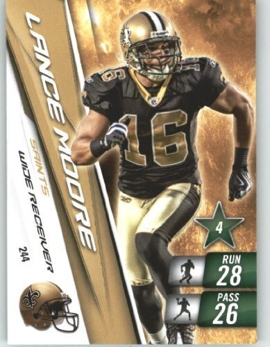 2010 Panini Adrenalyn XL NFL Trading Card #244 Lance Moore - New Orleans Saints - NFL Trading Card