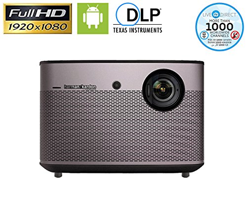 Home Projector, XGIMI H1S-Aurora Native 1080p HD Auto Focus Android Smart 3D Home Theater Projector TV with Harman/Kardon Customized Stereo Build-in LiveTV Services