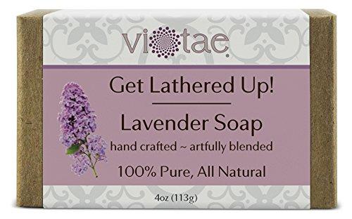 Make Coconut Oil Soap (Vi-Tae 100% Natural and Organic Handmade 'Get Lathered Up' Lavender 4oz Soap Bar)