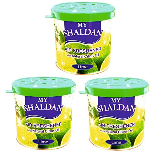 My Shaldan Lime Car and Home Air Freshener (80 g, Pack of 3)