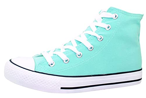 Mewow Daily Womens Teen Girls Cute High Top Lace Up Flat Canvas