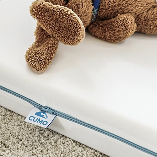 CUMO JUNIOR Ersatzbezug 120x60x10 90/° waschbar I Matratzenbezug mit Rei/ßverschluss I Matratzen/überzug mit wasserundurchl/ässiger Membran I Liegefl/äche 100/% Baumwolle I Allergiker geeignet