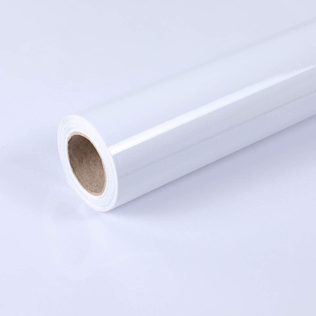 Tinkei 15.8'' x 197'' White Contact Paper Self-Adhesive Contact Paper Countertops Contact Paper Waterproof Cabinets Shelves Peel and Stick Kitchen Oil Proof Wallpaper