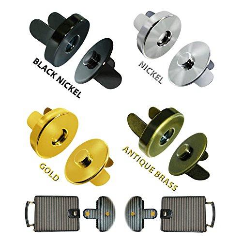 12pcs 14mm Strong Magnetic Snap Fasteners Clasps Buttons for Handbag Purse Wallet Mixed Colors Send(Random) FLQ081-14(Mix-s) ()