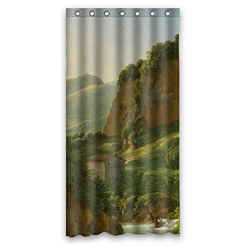 NASAZONE The Beautiful Scenery Landscape Painting Bath Curtains Of Polyester Width X (The Query Tool)