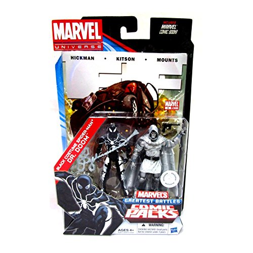 Marvel Universe Black Costume Spider-Man & Dr. Doom Exclusive Comic Pack Includes Comic Book