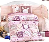 Gold Case Snoopy Pink - Baby Deluxe Duvet Cover Set - 100% Cotton - 4 Pieces - Made in Turkey