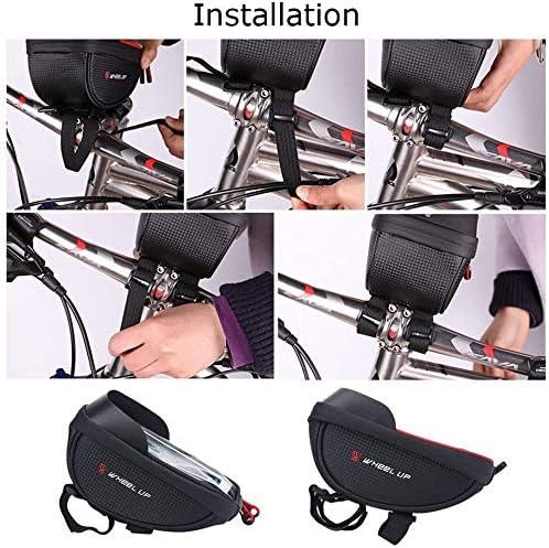 自転車携帯電話ホルダーバッグナイロン防水ハンドルバーバッグ自転車ラックバッグ携帯電話ホルダー