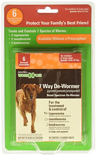 SENTRY Worm X Plus 7 Way DeWormer Large Dogs (6 count) Package may vary