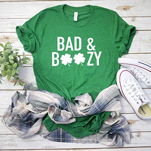 601fba231 Drinking St Patty's day shirt Bad and Boozy Shirt Women's St Patricks day  tee Funny St