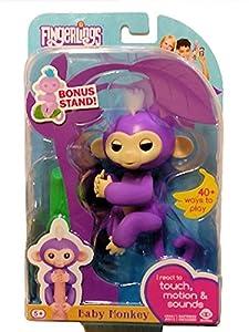 Omaky Fingerlings Interactive Baby Monkeys Smart Colorful Fingers Llings Smart Induction Toys from Fingerlings