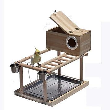 FJGLHEJG Jaula de pájaros for Mascotas Hamaca Columpio Escalera de Juguete Entrenamiento de Mascotas Canario Colgante Jaula Escalera de pie (Color : Style B, Size : L): Amazon.es: Hogar