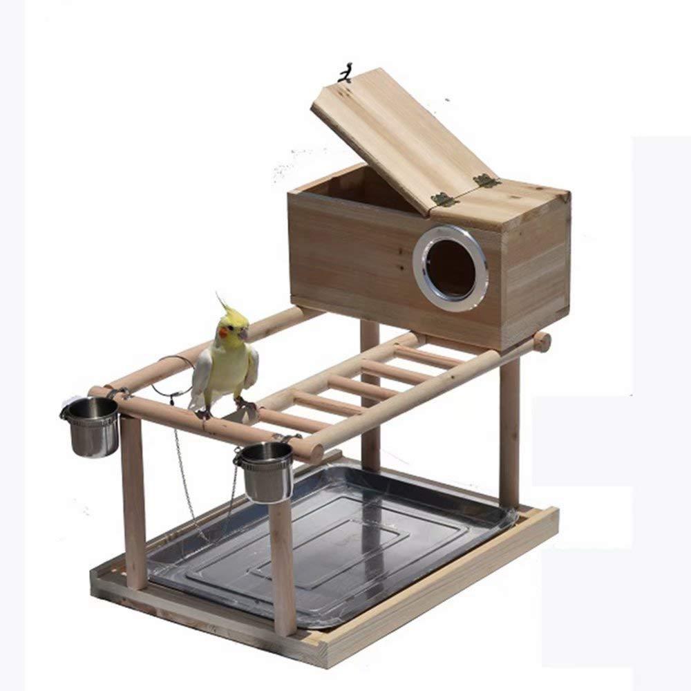 FJGLHEJG Pet Bird Cage Hammock Swing Toy Ladder Pet Training Canary Hanging Cage Standing Ladder (Color : Style B, Size : L) by FJGLHEJG