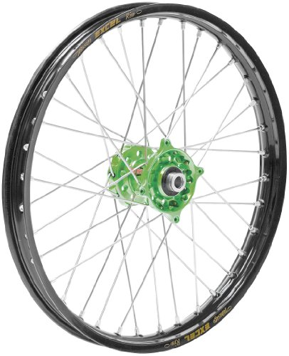 Unknown Complete Rear Wheel - Magnesium Talon Hub/Black Excel Takasago Rim - 2.15x19 , Position: Rear, Rim Size: 19, Color: Magnesium