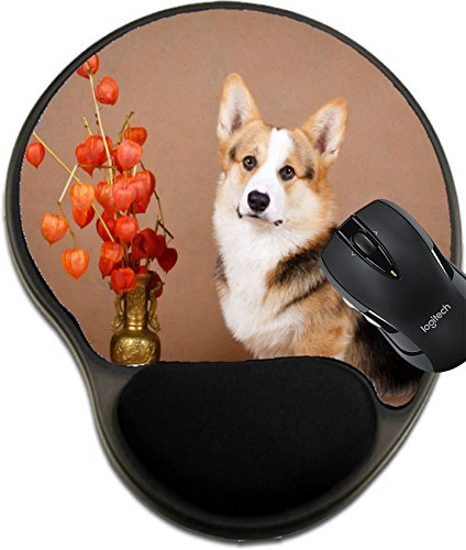 (MSD Mousepad Wrist Protected Mouse Pads/Mat with Wrist Support Welsh Corgi Pembroke Dog Image 33648527 Customized Tablemats Stain Resistance Collector Kit Kitchen Table Top DeskDrink Customized Stain)
