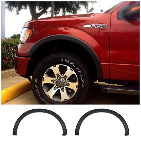 HX Fender Flares Fits for 2009-2014 Ford F150 OEM-Look Factory Style Front Rear Fender - Flares Aftermarket Fender