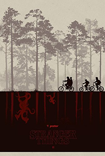 "Stranger Things Movie 2016 : Vinyl BANNER Hi - Res Poster 11""x17"" # A"
