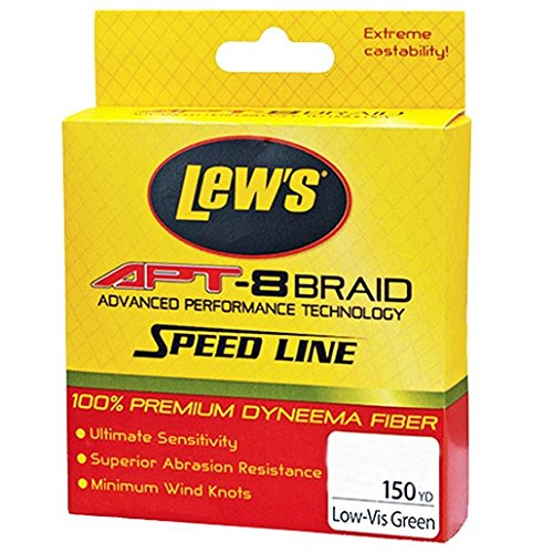 Lew's Fishing APT-8 Braid Speed Line, Low-Vis Green, 6 lb/150 yd
